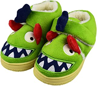 Tirzro Girls/Boys Cute Monster Indoor Outdoor Slippers with Anti-Slip Rubber Sole Shoes