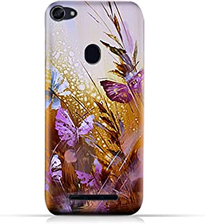 AMC Design Lava R3 Note TPU Silicone Case with Butterflies Oil Paint Pattern