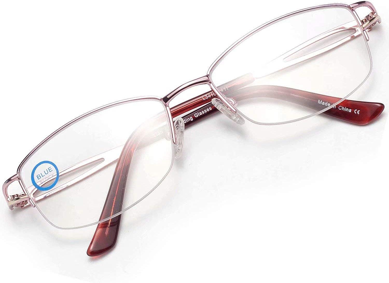 LianSan Womens Anti Blue Ray Computer Reading Glasses Ladis Blue Light  Blocking Readers for Women Purple Pink
