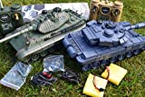 2.4GZ LARGE INTERACTIVE GERMAN ARMY BATTLE TWIN TANK RADIO REMOTE CONTROL INFRARED 1:28