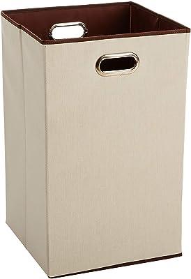 AmazonBasics Foldable Laundry Bag /Basket, Cotton (White)