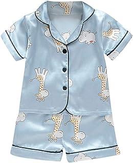 Xmiral Baby Mädchen Jungen gedruckte Pyjamas Kurzarm T-Shirt  Shorts