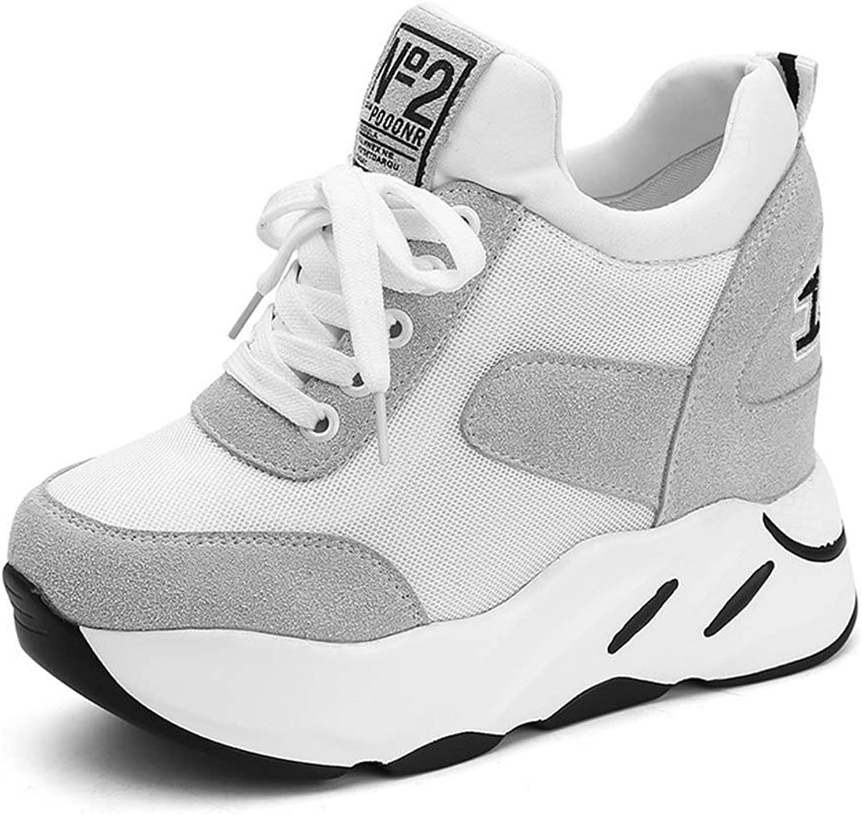 Kvinnor Andningsbara maska Air skor skor skor High klackar Damer tillfälliga skor Kvinnor Wedges Plattformskor  ny sadie