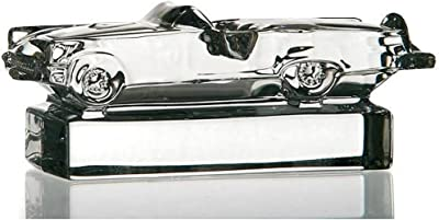CRISTALICA Model Car, Collectable, Crystal Statue/Figurine, Collection Ford Thunderbird, Lead Crystal, Transparent, 12 cm, Cars (German Crystal Powered