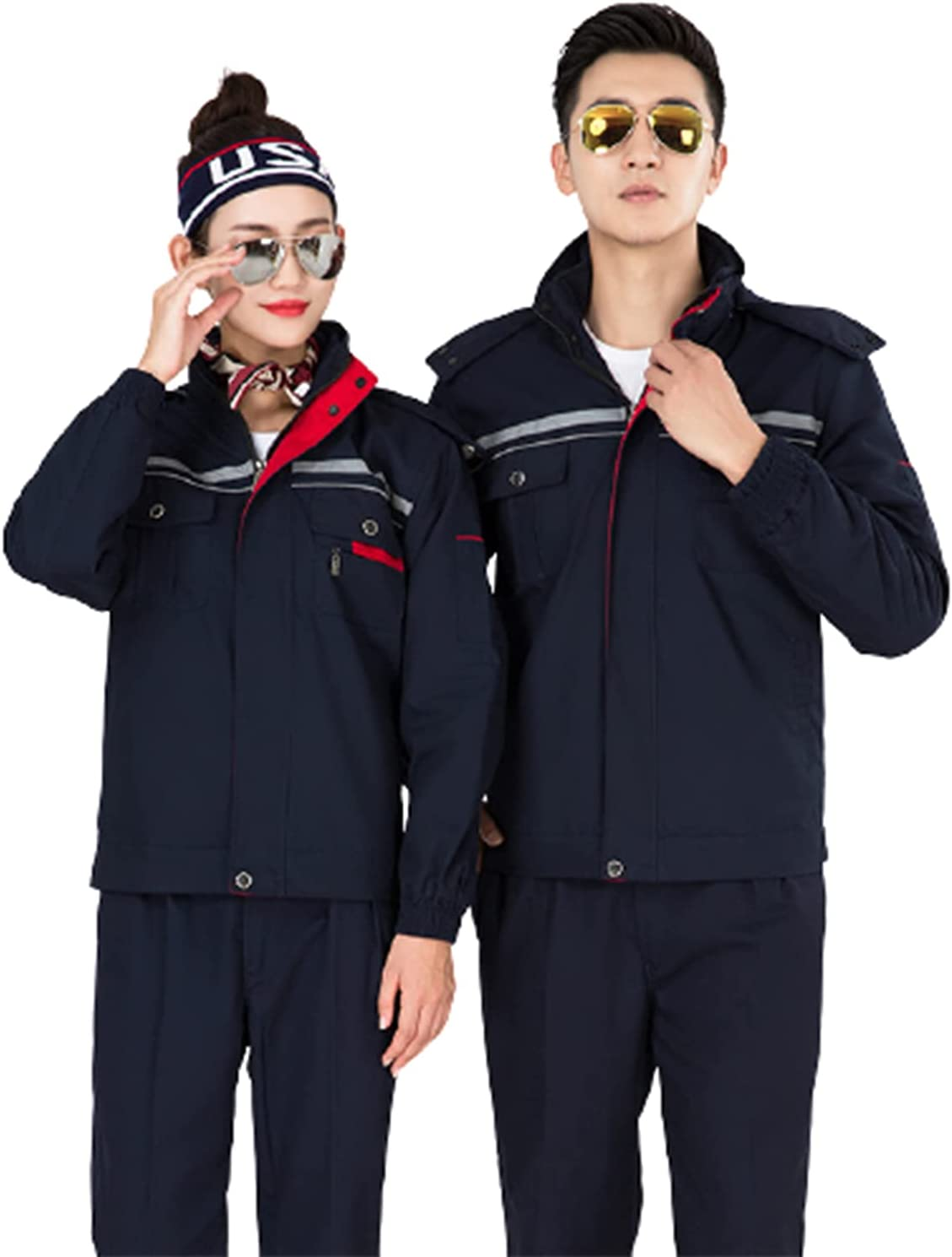 Winter Work Jacket with Warm Lining Work Clothing in Cotton for Garden Cleaning Job Work Uniform