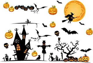 Hidreams 31 PCS Halloween Window Clings Decorations Stickers, Halloween Decals for Windows Glass Walls
