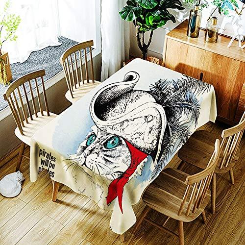 XXDD Mantel de Panda Enojado Creativo de Dibujos Animados Animal Gato patrón Mantel cómodo Impermeable Cubierta de Mantel A12 135x200cm