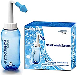 Neti Pot Sinus Rinse Bottle Nose Cleaner Allergy Relief Nose Wash Cleaner Pressure Rinse Nasal Irrigation for Adult & Kid ...