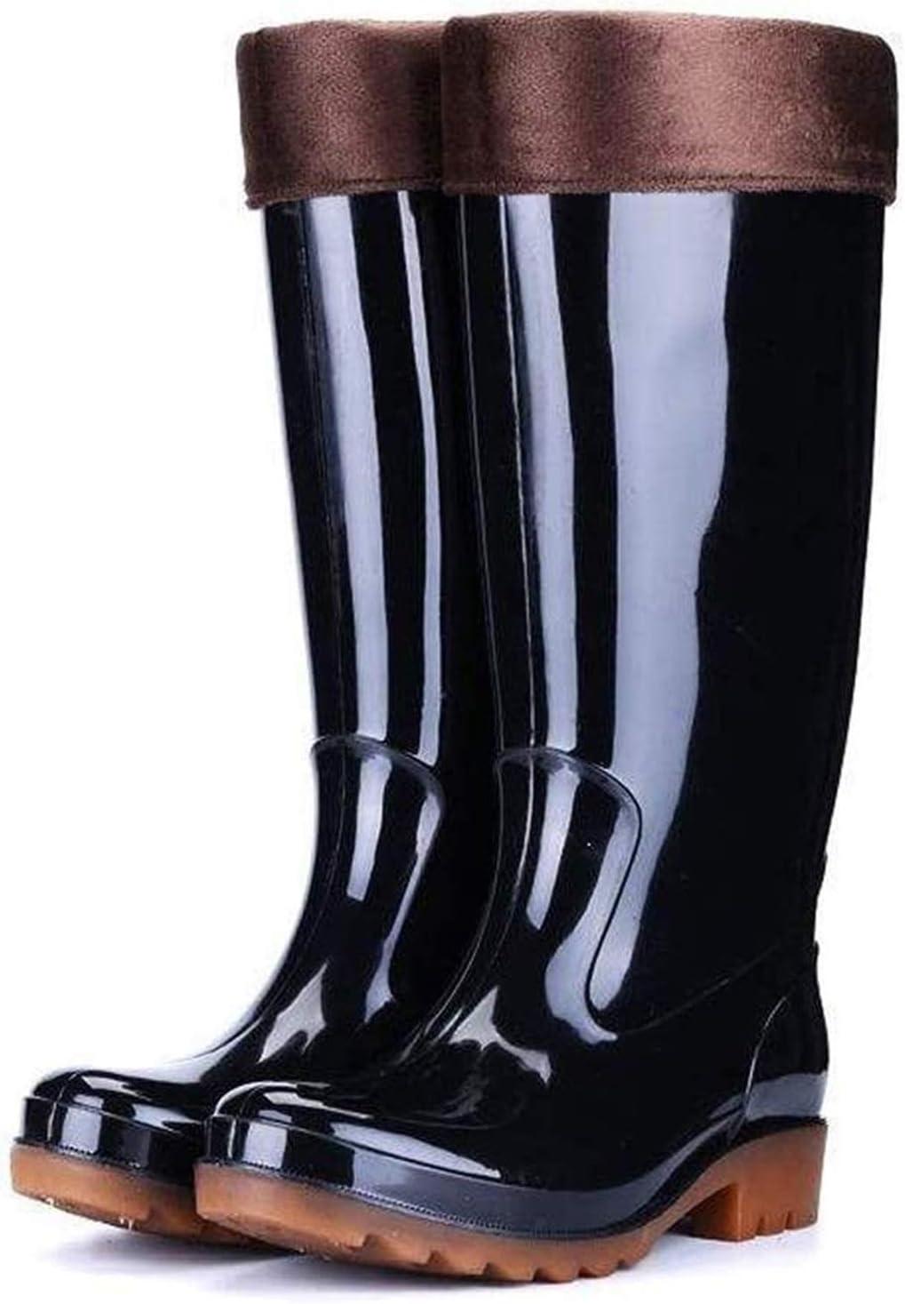 Boston Mall YUESFZ rain Boots ! Super beauty product restock quality top! Men's Tall Work Rain Outdoor Black Tube
