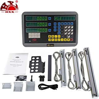 Hxx 3-Axis DRO kit Digital Reading and 50-1000mm Linear Glass Scale/Sensor/Machine Encoder 3 Pieces Can be Matched