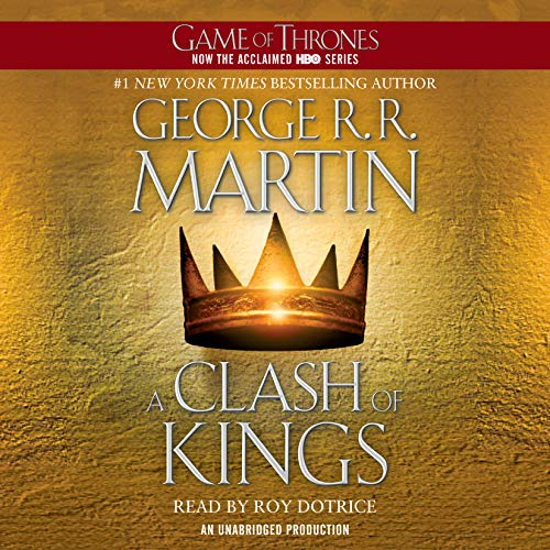 A Clash of Kings     A Song of Ice and Fire, Book 2              By:                                                                                                                                 George R. R. Martin                               Narrated by:                                                                                                                                 Roy Dotrice                      Length: 37 hrs and 12 mins     65,155 ratings     Overall 4.8