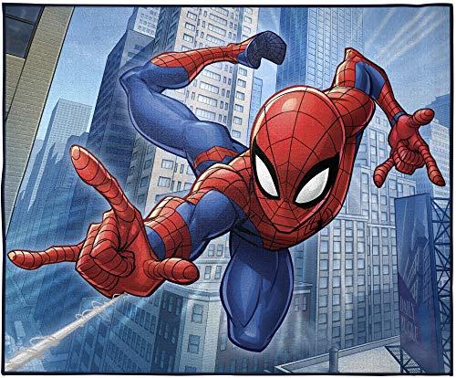 Jay Franco Marvel Spiderman Wall Crawler Room Rug - Large Area Rug Measures 4 x 5 Feet (Offical Marvel Product)