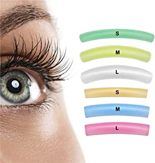 Libeauty Lash Lift Rods Pads Eyelash Perm Lift Silicone Pads 6 Size Colorful Reusable Eyelash Perming Curler Shield Pads f...