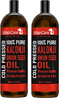 WishCare® Premium Cold Pressed Kalonji Black Seed Oil | For Healthy Hair and Skin | Combo Pack of 2 (200 Ml each)