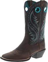 Ariat Damen Cowboy Stiefel 29656 Round Up Melrose Westernreitstiefel Lederstiefel Braun