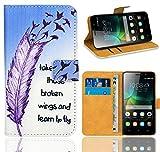 Huawei G Play Mini/Honor 4C Handy Tasche, FoneExpert® Wallet Hülle Flip Cover Hüllen Etui Ledertasche Lederhülle Premium Schutzhülle für Huawei G Play Mini/Honor 4C (Pattern 7)
