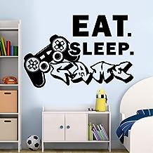 Pegatinas De Pared Para Jugadores, Pegatinas De Juego Para Dormir, Dormitorio, Vinilo, Controlador De Arte De Pared, Contr...