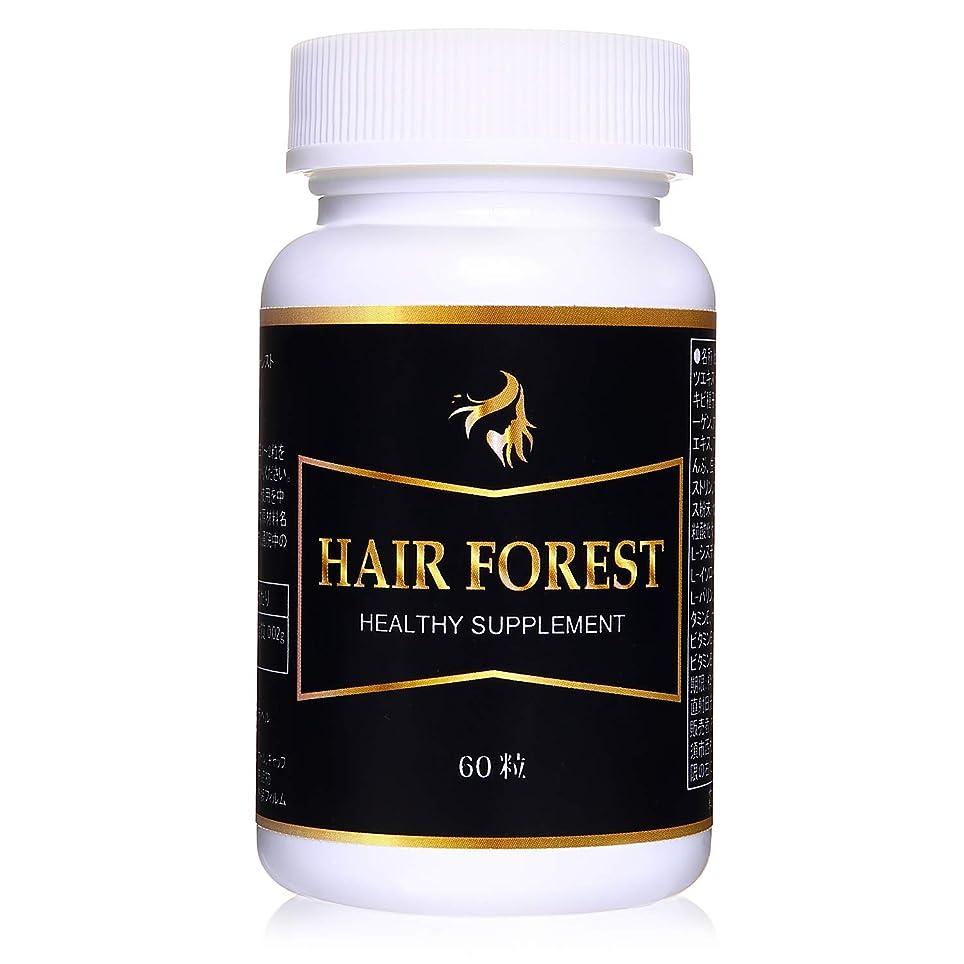 困惑したさらに測定HAIR FOREST(ヘアーフォレスト) ノコギリヤシ サプリメント 毛髪栄養補助食品 60粒 【国内工場生産】