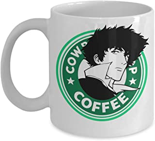 Spike Spiegeil Cowboy Bebop Deco Green Coffee Mug, Funny, Cup, Tea, Gift For Christmas, Father's day, Xmas, Dad, Anniversary, Mother's day, Papa, Hear