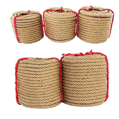 10 m starkes Hanfseil, dickes Jute-Seil, Schnur für Kunsthandwerk, Geschenkverpackung, Garten (16 mm x 10 m)