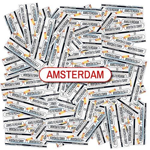 Amsterdam Gold, 100 extra vochtige condooms, breedte 53mm