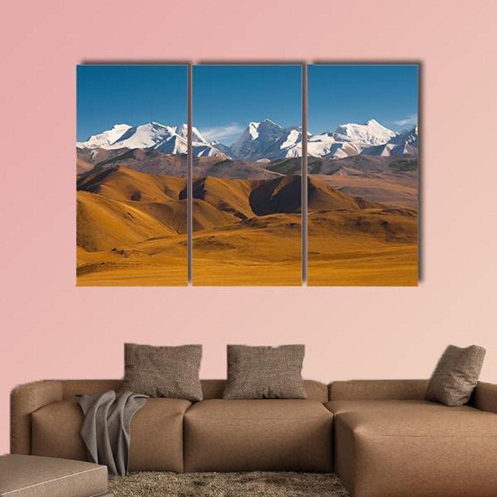 3 Paneles de Pintura de Pared Impresiones sobre Lienzo, 3 piezas lienzo pintura,picos del Himalaya con montañas áridas Decoracion de Pared 3 Piezas Modernos Mural Fotos ,Decoración Para El Hogar