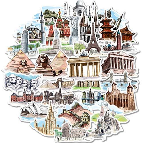 La série d'autocollants architecture du monde