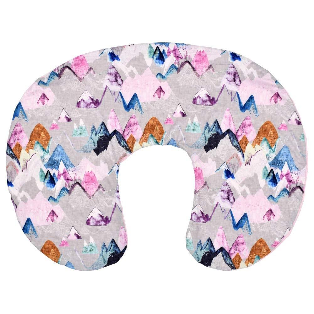 Multi-Use Nursing Pillow Cover, Minky Dot Breastfeeding Nursing Pillow Case, Ultra Soft Nursing Pillow Slipcovers (Pink Mountain)