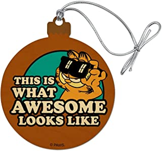 GRAPHICS & MORE Garfield This is What Awesome Looks Like Wood Christmas Tree Holiday Ornament