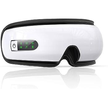 Gemtop 「2020NEWモデル」アイマッサージャー 目元マッサージャー bluetooth 温め 手揉み&振動 音声調整 折りたたみ USB充電 理美容家電 目元に極上エステ「日本語説明書」