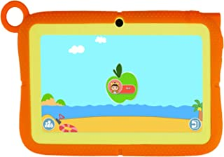 Kids Tablet 7 Inch Toddler Edition Learning Tablet WiFi Camera and Bluetooth GMS Certified Kids-Proof Children Tablets with Parental Control for Kids Gift, 40+ Learning & Training Apps (Orange)