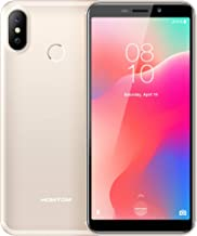 HOMTOM C1 Android 8.1 Unlocked Smartphone, 5.5 inch 18:9 Full Display 13MP Rear Camera 3G Mobile Phone,1GB RAM 16GB ROM Quad Core,3000mAh Fingerprint Dual SIM Card Cell Phone-Gold