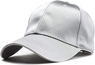 Hats and Caps Travel Hat for Women Black Cap Male Travel Leisure Wild Shade Korean Baseball Cap Street Hipster (Color : Silver, Size : 56-60CM)