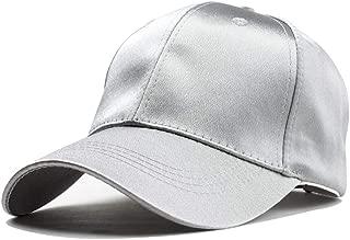 Hats Travel Hat Female Black Cap Male Travel Leisure Wild Shade Korean Baseball Cap Street Fashion (Color : Silver, Size : 56-60CM)