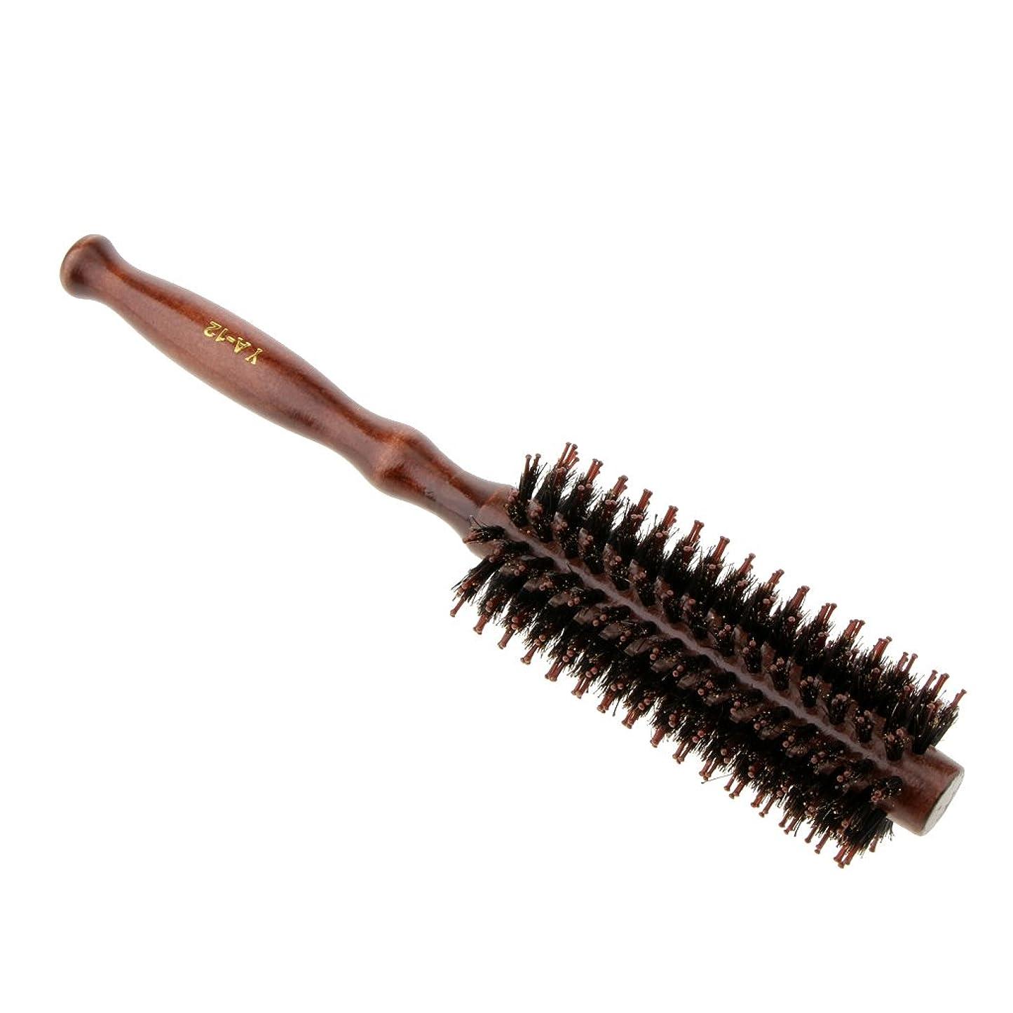 ますますブラスト受動的Kesoto ロールブラシ ヘアブラシ 木製ハンドル 滑らか カール 巻き髪 頭皮マッサージ くし 櫛 2タイプ選べる - #2