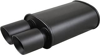 TC Sportline Burnout MU-UN002DB Spun-locked Universal Oval Muffler Exhaust 3.5