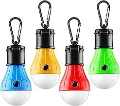FLY2SKY Tent Lamp Portable LED Tent Light 4 Packs Clip...