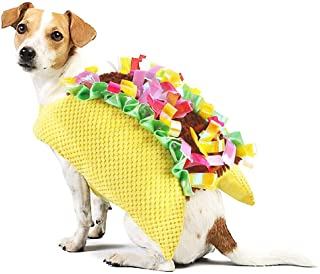 Dog Cat Costume - Halloween Pet Taco Food Cosplay Funny Gear for Party Size S to M for Puppy Kitten