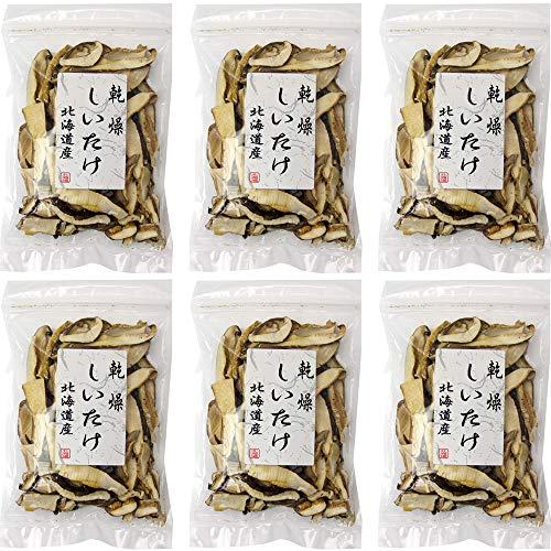乾燥スライスしいたけ 30g×6袋セット 北海道産きのこ (北海道産椎茸) 干しシイタケスライスタイプ 国内産乾燥椎茸 菌床栽培の乾燥シイタケ (占冠山村産業振興公社) 栄養素の凝縮された干し椎茸の細切り しむかっぷむらすらいす干ししいたけ