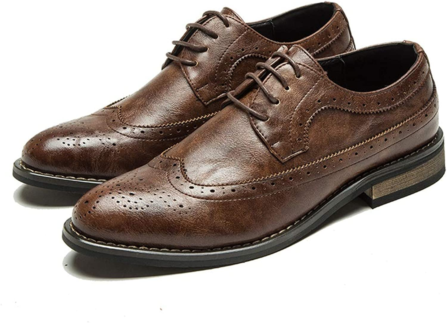 Men's Business Oxford Casual Classic British Style Low Top Carving Brogue shoes
