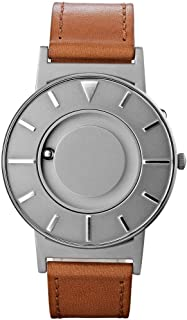 Eone Bradley Voyager Silver Watch Cognac Leather Band