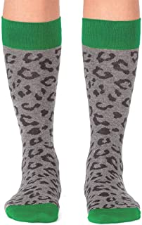 Jimmy Lion, Calcetines Leopard Print Gris Mujer