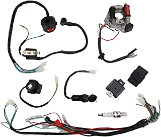 Complete Wiring Harness Loom kit Electrics Stator Engine Coil CDI Wiring Harness for 50cc 70cc 90cc 110cc 125cc 4 Stroke ATV Quad Bike Buggy