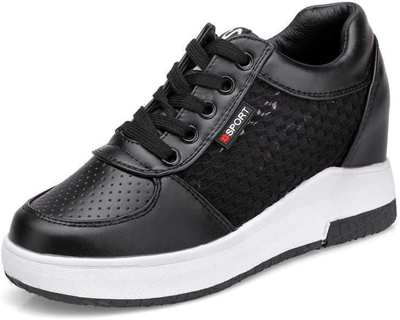 T-JULY Women Hidden Mid Heels Platform Wedges shoes Fashion Platform Casual shoes