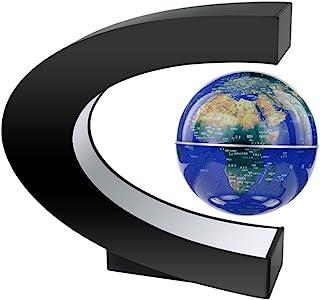 MeetUs Anti - Gravedad queestaremos Creativas flotando Planeta C Forma de levitación magnética Flotante Decoracion Globo Mapa del Mundo con Luces de Colores