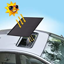 Magnetic Car Sunroof Sun Shade Breathable Mesh, Car roof Cover for Overnight Camping, Quick Install, UV Sun Protection When Parking on Trips