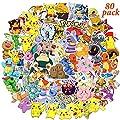 Nbrand Paquete de Pegatinas, Pokémon Pegatinas, 80pcs Pegatinas Vinilo, Pegatinas vsco Impermeables, Pegatinas Portatil, Usadas para Coches, Motos, Bicicletas, Maletas, Patinetas, Regalos Ideales (A) de Nbrand