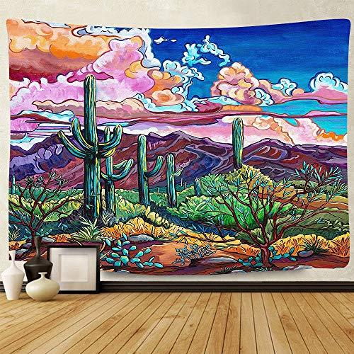KHKJ Tapiz psicodélico de Hongos, Tapiz Colorido Abstracto Trippy, tapices para Colgar en la Pared para el hogar, Dormitorio, decoración de fantasía A36 95x73cm