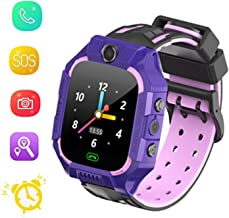Kids Smart Watch GPS Tracker - Boys Girls for 3-12 Year Old with SOS Camera Alarm Call Camera Alarm 1.44'' Touch Screen SOS Flashlight Electronic Toy Birthday