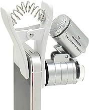 1pcs universal 3LEDs Clip Teléfono Móvil Lupa de microscopio micro lente zoom óptico de 60x Telescopio Lente De La Cámara